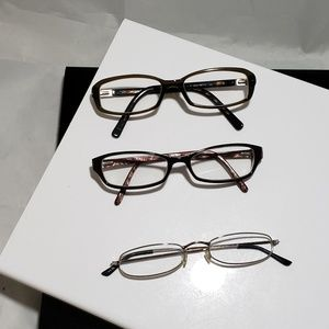 3 reading glasses dkny Ellen tracy and no brand